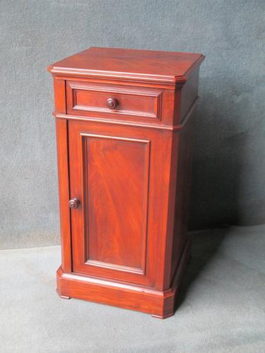 Mahogany Bedside Cabinet Pot Cupboard c.1880 (1 of 1)