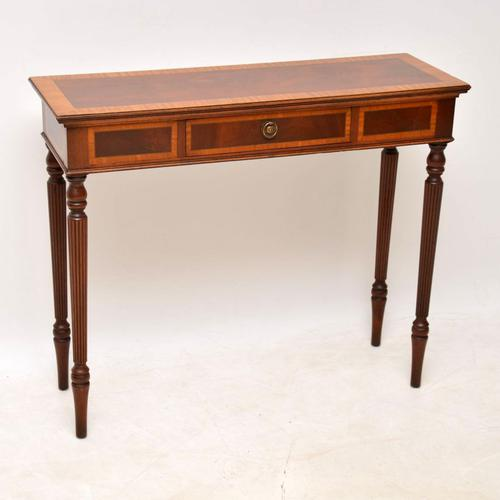 Georgian Style Inlaid Mahogany Console Table (1 of 9)