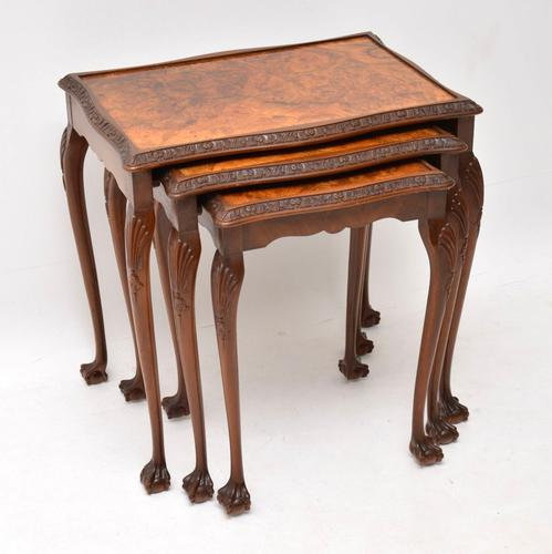 Antique Burr Walnut Nest of Tables (1 of 9)