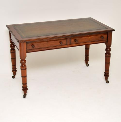 Antique Mahogany Leather Top Writing Desk (1 of 10)