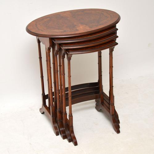 Antique Burr Walnut Nest of Four Tables (1 of 12)