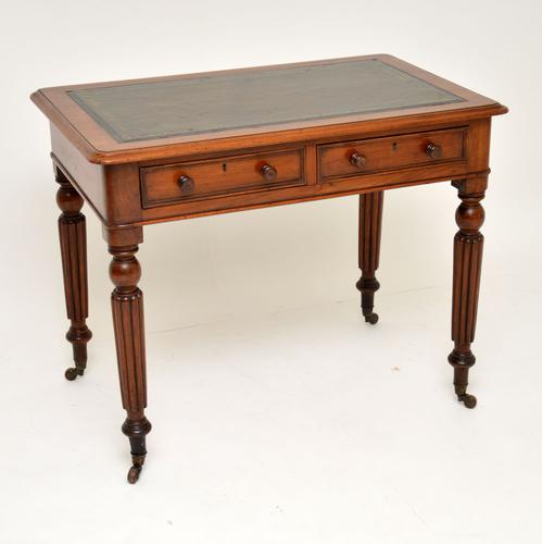 Antique Victorian Mahogany & Leather Writing Table / Desk (1 of 10)