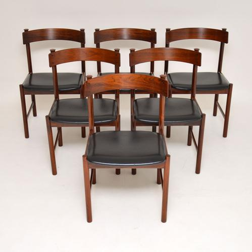 1960s Danish Vintage Rosewood Dining Chairs – Set of 6 (1 of 15)