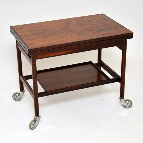 1960s Danish Rosewood Drinks Trolley by Kurt Ostervig (1 of 13)