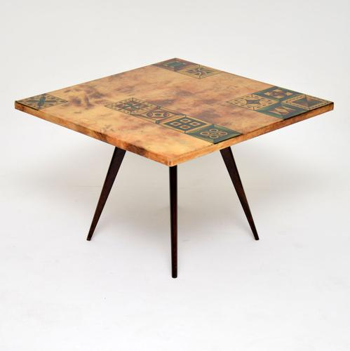 1960s Italian Lacquered Parchment Coffee Table by Aldo Tura (1 of 11)
