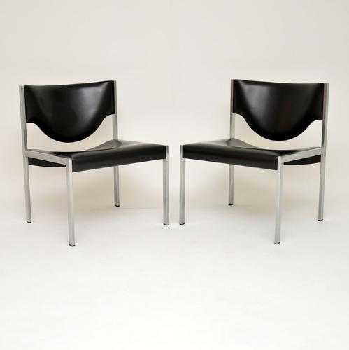 Pair of Vintage Danish Steel Lounge Chairs (1 of 7)