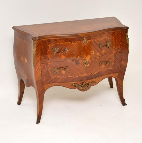 French Inlaid Marquetry Bombe Chest c.1930 (1 of 11)