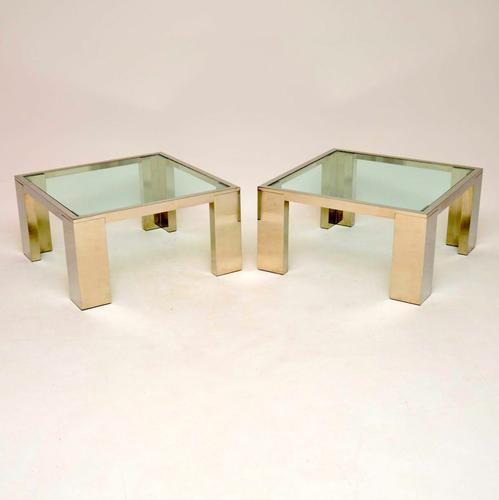 1970s Pair of Chrome & Glass Side / Coffee Tables (1 of 9)