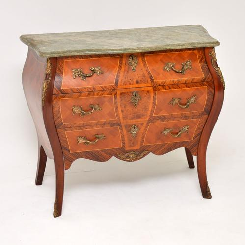 French Marble Top Bombe Chest c.1930 (1 of 10)