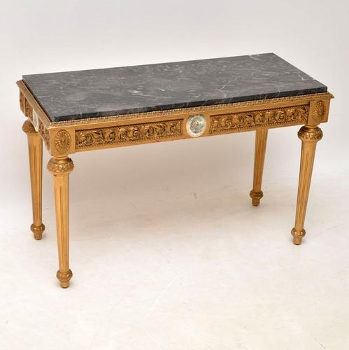 French Marble Top Gilt Coffee Table (1 of 11)