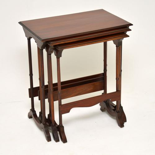 Antique Mahogany Nest of Three Tables (1 of 9)