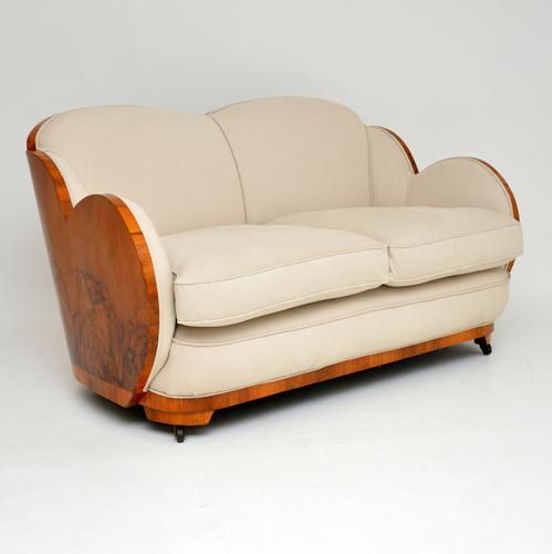 Art Deco Walnut Cloud Back Sofa by Epstein (1 of 12)