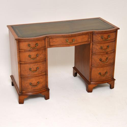 Burr Walnut Leather Top Desk c.1930 (1 of 10)