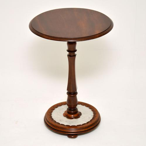 Antique William IV Mahogany & Marble Side Table (1 of 7)