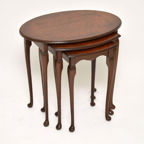Antique Burr Walnut Nest of Tables (1 of 6)