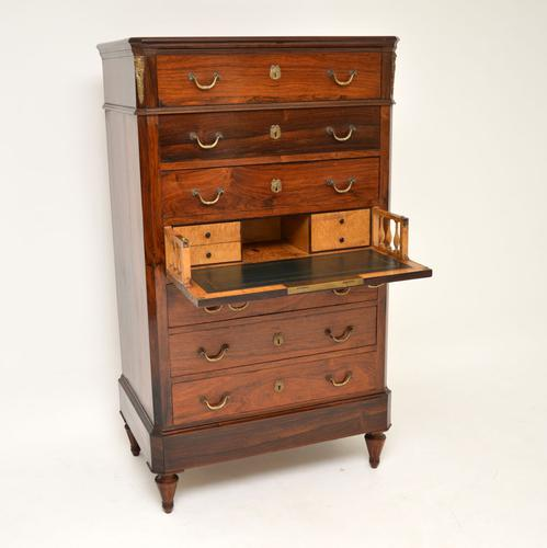 Antique Rosewood Biedermeier Secretaire Chest of Drawers (1 of 13)