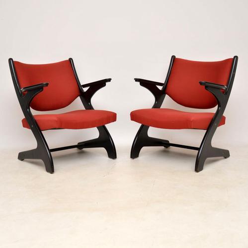 1960'S Pair of Vintage Italian Armchairs (1 of 12)