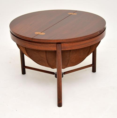 1960s Rosewood 'Syklus' Sewing Table by Rastad & Relling (1 of 10)
