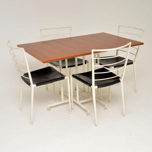 1960s Ladderax Teak Dining Table & 4 Chairs (1 of 13)
