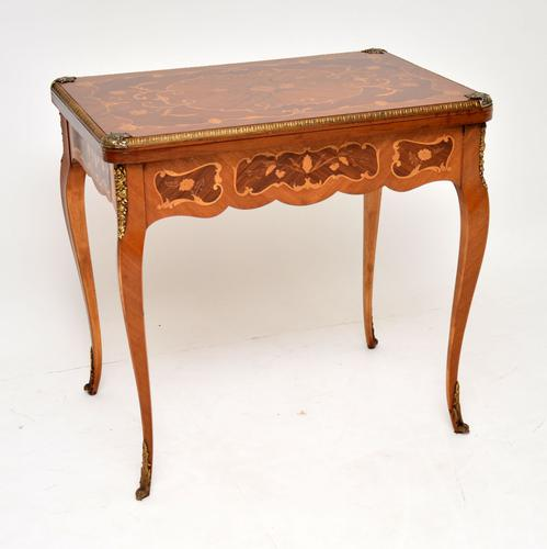 French Inlaid Marquetry Card Table (1 of 12)