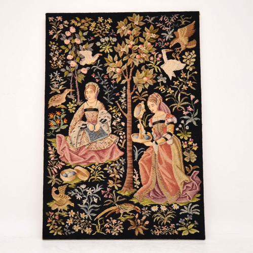Antique Hand Stitched Tapestry c.1890 (1 of 12)