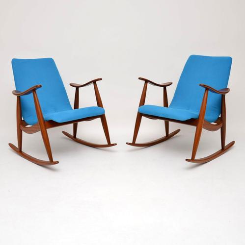 1960s Pair of Vintage Rocking Armchairs by Louis Van Teeffelen (1 of 11)