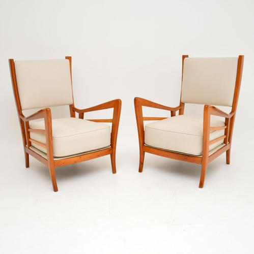 1950s Pair of Italian Vintage Armchairs (1 of 12)