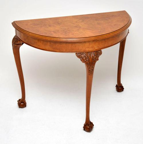 Antique Burr Walnut Console Table (1 of 9)