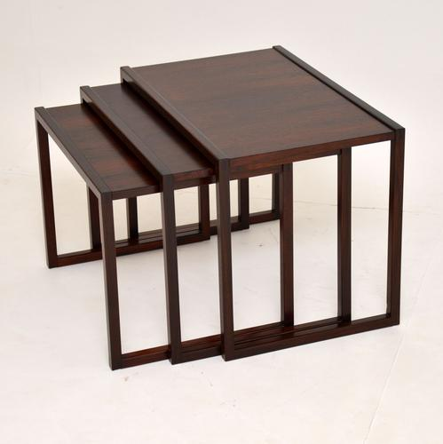1960s Danish Rosewood Nest of Tables by Kai Kristiansen (1 of 11)