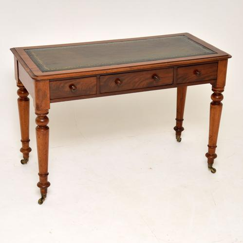 Antique Victorian Mahogany Writing Table / Desk (1 of 10)