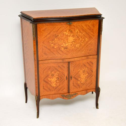Antique French Inlaid Marquetry Drinks Cabinet (1 of 10)