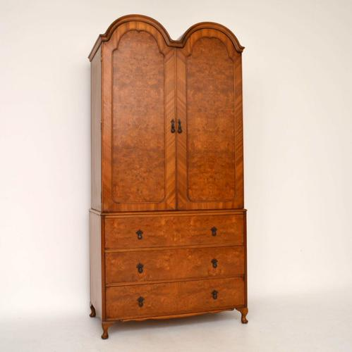 Double Domed Burr Walnut Wardrobe c.1930 (1 of 1)