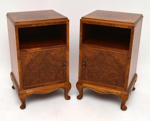 Pair of Burr Walnut Bedside Cabinets c.1930 (1 of 1)