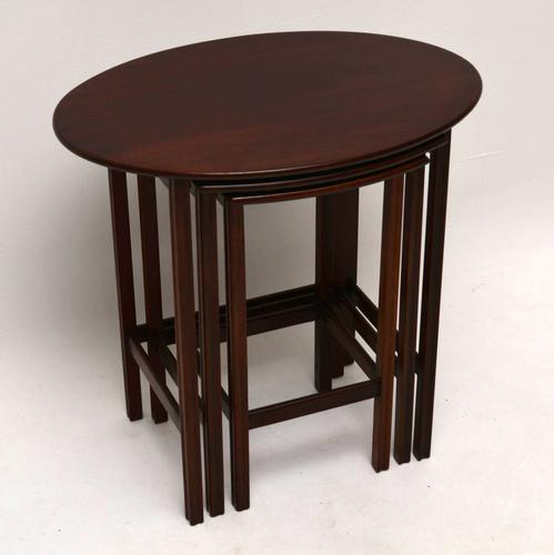 Antique Edwardian Mahogany Nest of Tables (1 of 1)
