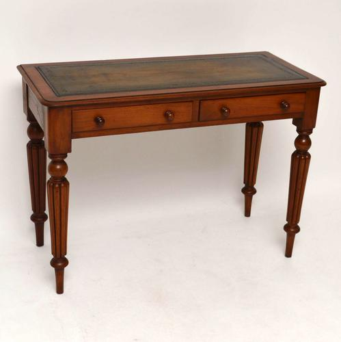 Antique Victorian Mahogany Leather Top Writing Table / Desk c.1860 (1 of 1)