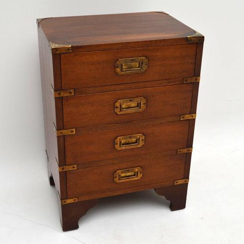 Small Campaign Style Mahogany Chest of Drawers (1 of 1)