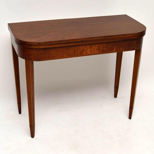 Antique Georgian Style Inlaid Mahogany Card Table (1 of 1)