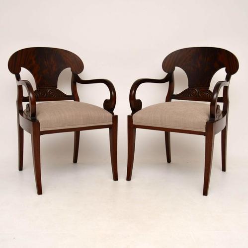 Pair of Antique Swedish Mahogany Armchairs (1 of 1)