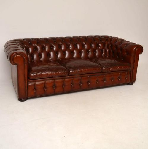 Leather 3 Seater Chesterfield Sofa c.1930 (1 of 1)