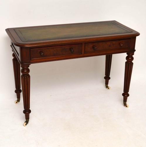 Antique William IV Mahogany Desk / Writing Table (1 of 1)