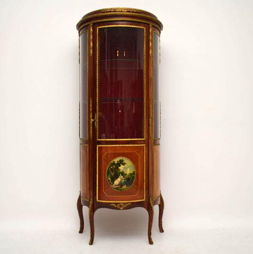 French Bow Fronted Display Cabinet (1 of 1)