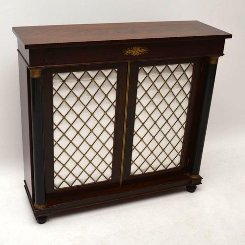 Regency Style Mahogany Grill Front Cabinet (1 of 1)