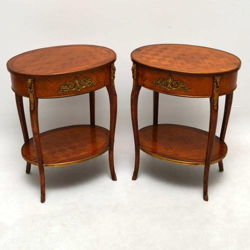 Pair of French Parquetry Top Tables c.1920 (1 of 1)