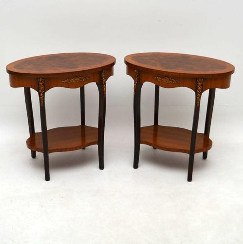 Pair of French Walnut Side or Lamp Tables c.1930 (1 of 1)