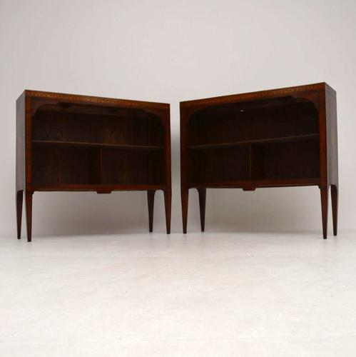 Antique Swedish Inlaid Rosewood Bookcases (1 of 1)