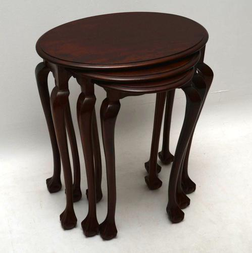 Antique Mahogany Nest of Tables c.1910 (1 of 1)