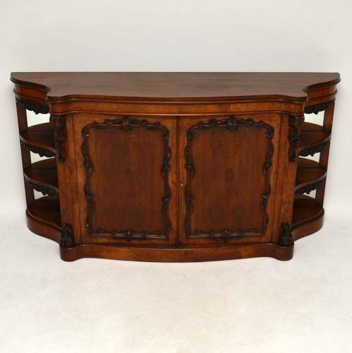 Antique Victorian Walnut Sideboard Credenza C.1840 (1 of 1)