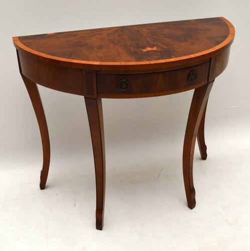 Yew Wood Console Side Table c.1930 (1 of 1)