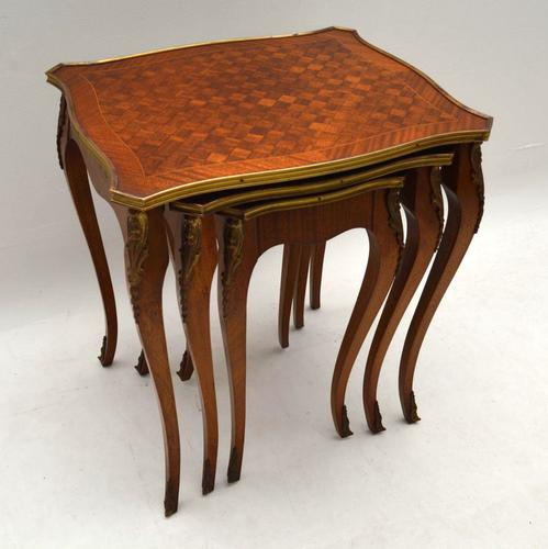 French Parquetry Nest of Tables c.1920 (1 of 1)