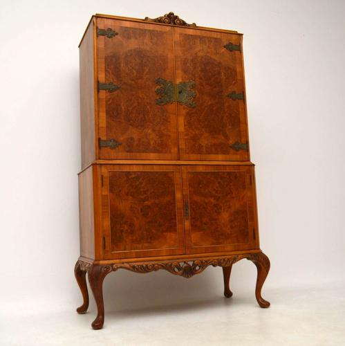 Burr Walnut Cocktail Drinks Cabinet c.1920 (1 of 1)